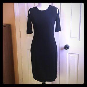 Bailey 44 Black Cold Shoulder Short Sleeve Dress